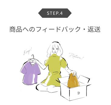drobeの洋服を購入or返品